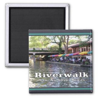 Riverwalk, San Antonio, TEJAS Imán Cuadrado
