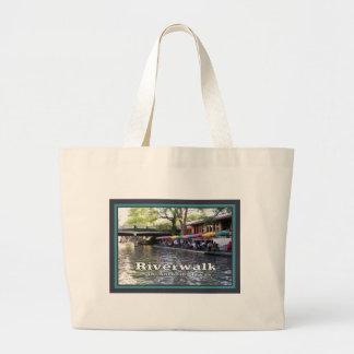Riverwalk, San Antonio, TEXAS Large Tote Bag