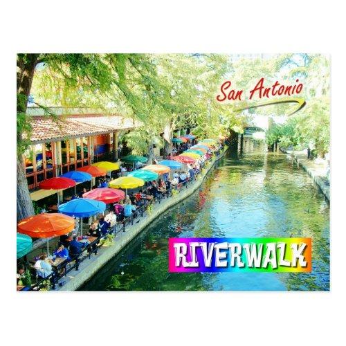 Riverwalk San Antonio Texas Postcard