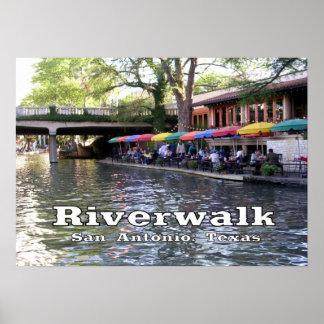 Riverwalk, San Antonio,Texas Poster