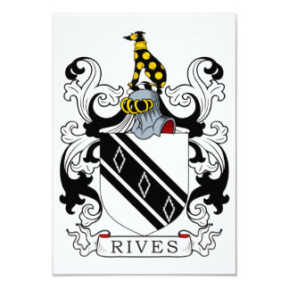 Rives Coat of Arms 3.5x5 Paper Invitation Card