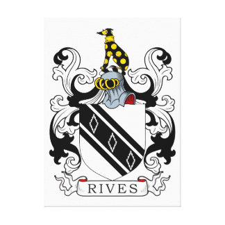 Rives Coat of Arms Canvas Print