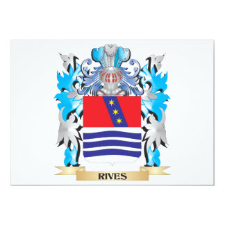 Rives Coat of Arms - Family Crest 5x7 Paper Invitation Card