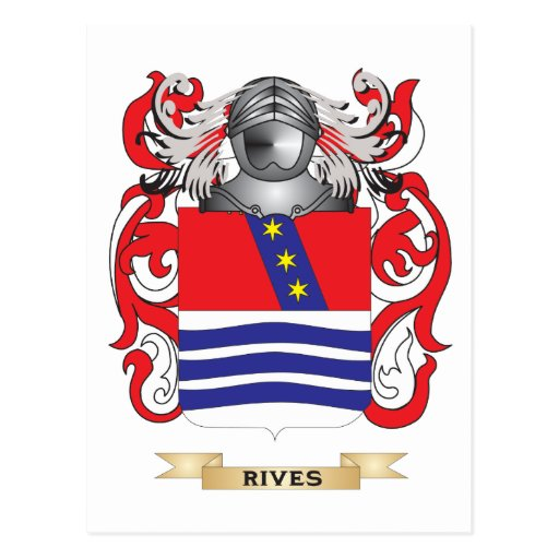 Rives Coat of Arms (Family Crest) Post Card