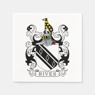 Rives Coat of Arms Napkin