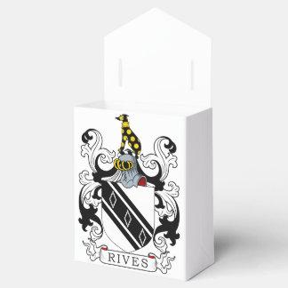 Rives el escudo de armas cajas para detalles de boda