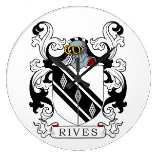 Rives el escudo de armas II Relojes De Pared