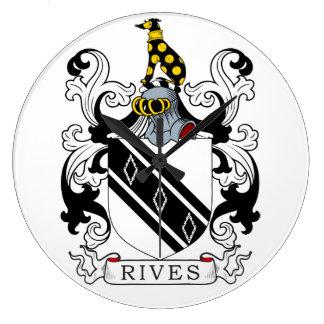 Rives el escudo de armas relojes de pared