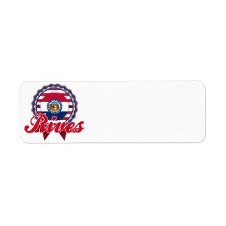 Rives, MO Custom Return Address Label