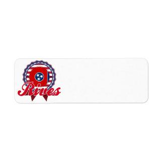 Rives, TN Custom Return Address Label