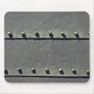 Rivet lines mouse pad