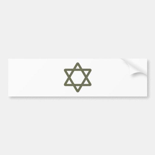 Rivet Star of David for Jewish Celebrations Car Bumper Sticker