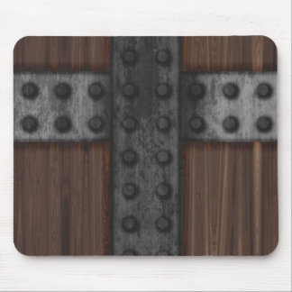 Riveted Wood Door Mouse Pad