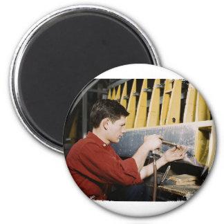Riveter 2 Inch Round Magnet
