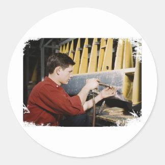 Riveter Classic Round Sticker