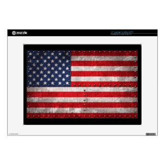 Riveting Old Glory Laptop Decals