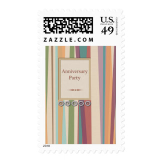 Rivets & Stripes Anniversary Party Stamps