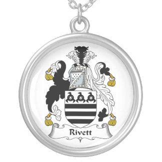 Rivett Family Crest Round Pendant Necklace