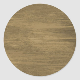 rivetted grungy gold metal plate classic round sticker