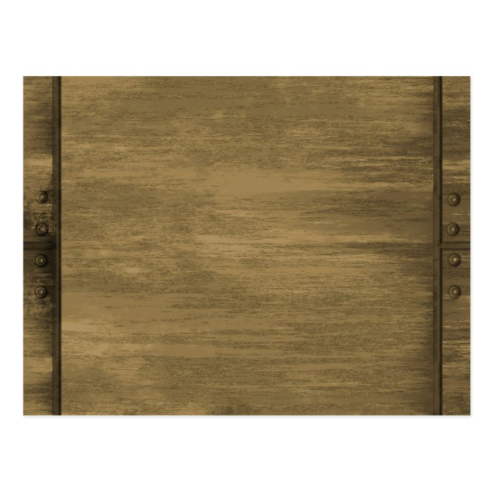 rivetted grungy gold metal plate postcard