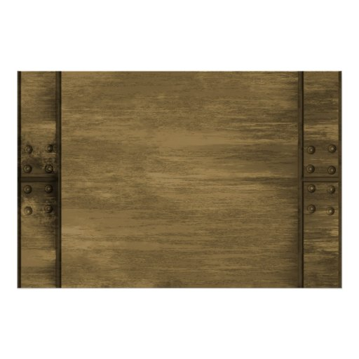 rivetted grungy gold metal plate poster