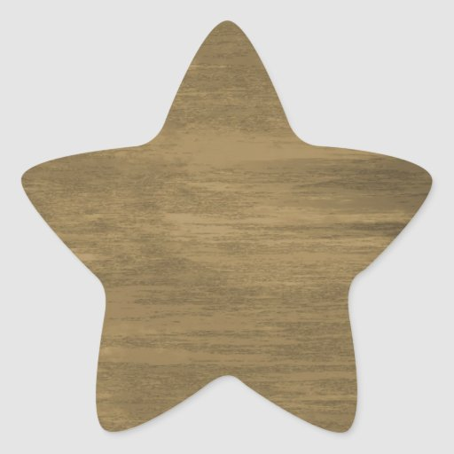 rivetted grungy gold metal plate star sticker