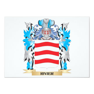 Rivier Coat of Arms - Family Crest 5x7 Paper Invitation Card