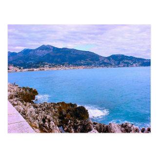 Riviera agradable, francesa, bahía del puerto, med tarjetas postales