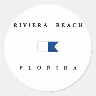 Riviera Beach Florida Alpha Dive Flag Stickers