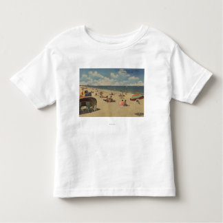 Riviera Beach, Florida - Sunbathers on Beach Toddler T-shirt