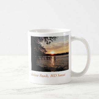 Riviera Beach, MD Sunset - COFFEE CUP Classic White Coffee Mug