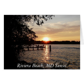 Riviera Beach, MD Sunset - NOTE CARD