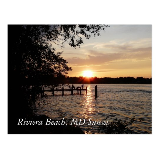 Riviera Beach Md Sunset Postcard
