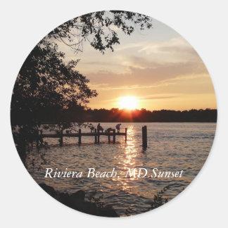 Riviera Beach, MD Sunset - Sticker