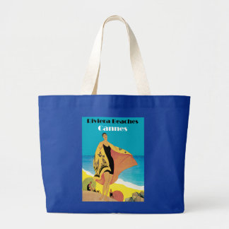 Riviera Beaches ~ Cannes Large Tote Bag