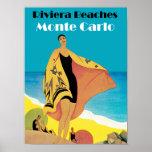 Riviera Beaches ~ Monte Carlo Poster