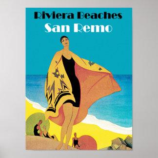Riviera Beaches ~ San Remo Poster