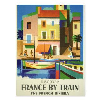Riviera francesa por la postal del poster del viaj