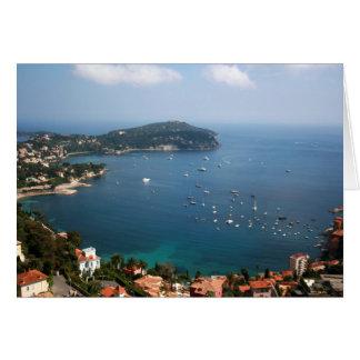 Riviera francesa tarjeta de felicitación
