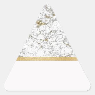 Riviera golden blush marble triangle sticker