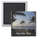 Riviera Maya Cancun Mexico Beach Vacation 2 Inch Square Magnet