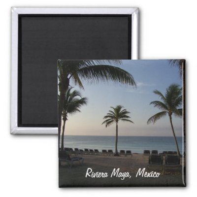 Riviera Maya Cancun Mexico Beach Vacation Magnet