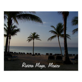Riviera Maya Cancun Mexico Beach Vacation Poster
