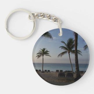 Riviera Maya Cancun Mexico Caribbean Sea Keychain