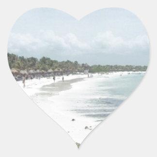 Riviera Maya Heart Sticker