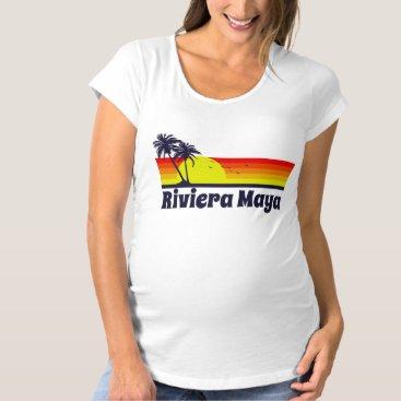 Beach Themed Riviera Maya Maternity T-Shirt