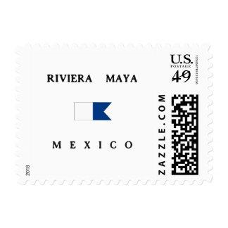 Riviera Maya Mexico Alpha Dive Flag Stamps