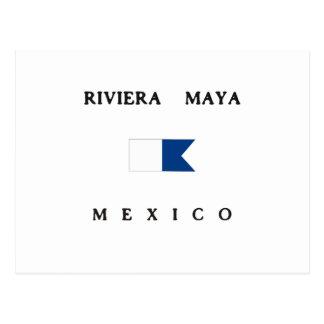 Riviera Maya Mexico Alpha Dive Flag Postcard