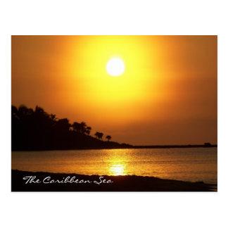 Riviera Maya Mexico Caribbean Sea at Dawn Postcard