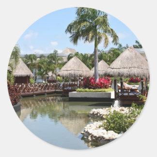 Riviera Maya, Mexico Classic Round Sticker